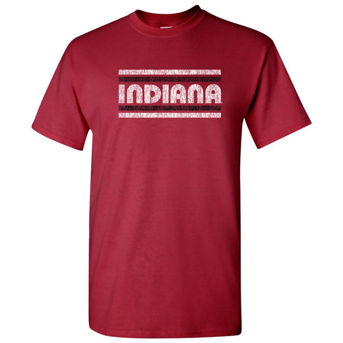 Indiana University Hoosiers Retro Underline Short Sleeve T Shirt - Cardinal