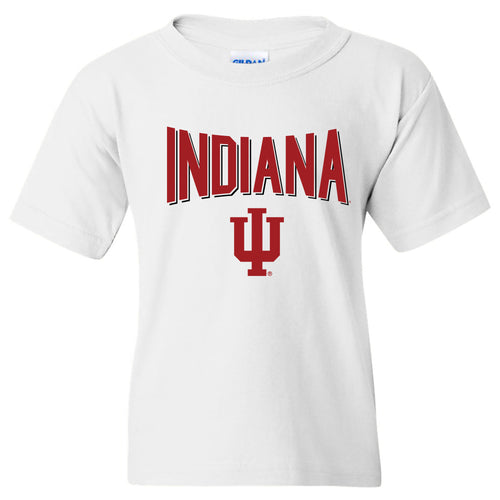 Indiana University Hoosiers Statement Block Youth Short Sleeve T-Shirt - White