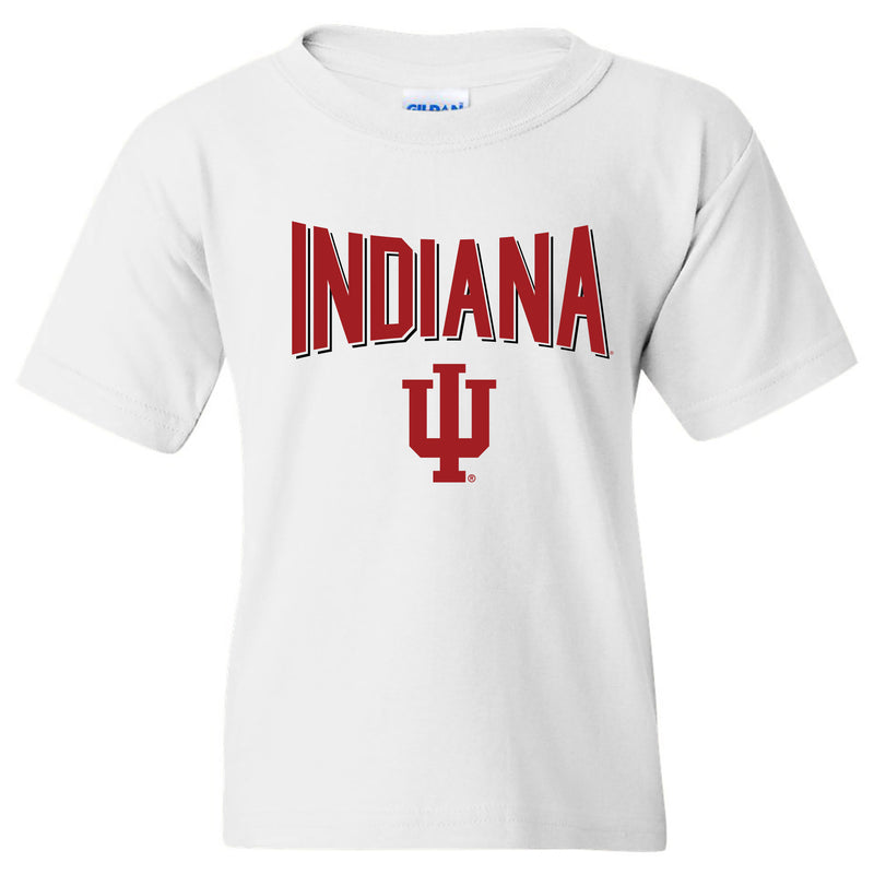 Indiana Hoosiers Statement Block Youth T-Shirt - White