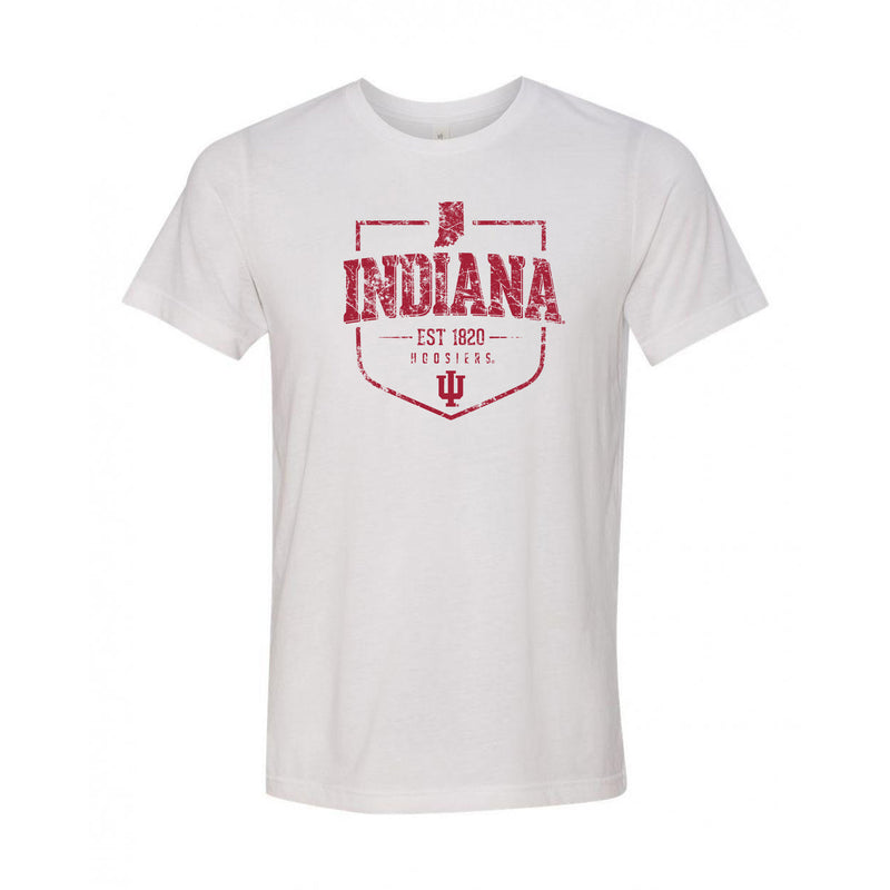 Indiana University Hoosiers Timber Shield Canvas Short Sleeve Triblend T-Shirt - White