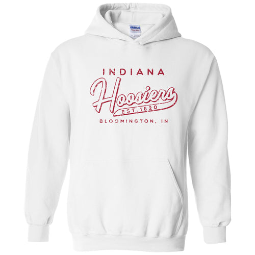 Indiana University Hoosiers Road Trip Heavy Blend Hoodie - White