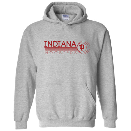 Indiana University Hoosiers Logo Ping Heavy Blend Hoodie - Sport Grey