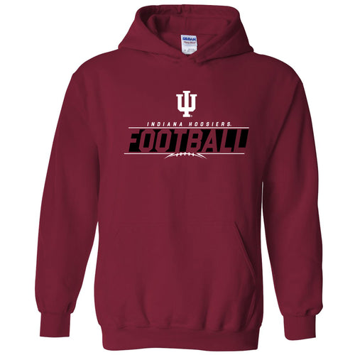 Indiana University Hoosiers Football Charge Hoodie - Cardinal