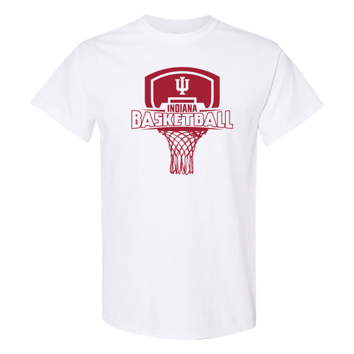 Indiana University Hoosiers Basketball Board Short Sleeve T-Shirt - White