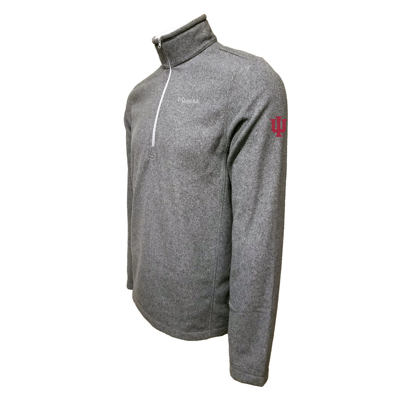 Indiana Columbia Fleece - Cardinal Thread - Grey