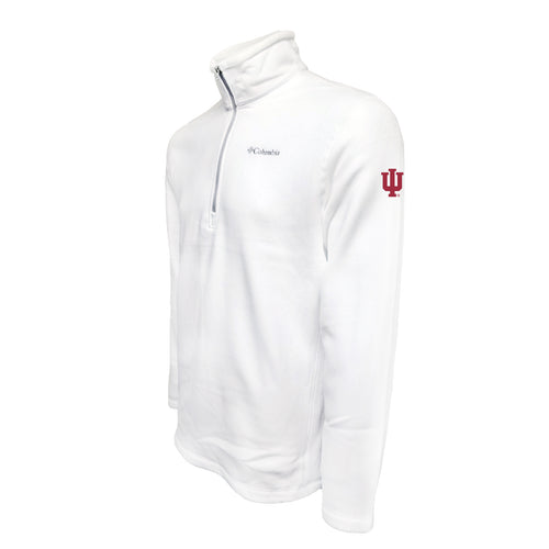 Indiana University Hoosiers Columbia Fleece - Cardinal Thread - White