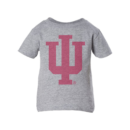 Indiana University Hoosiers Faded Trident Infant Short Sleeve T-Shirt  - Heather