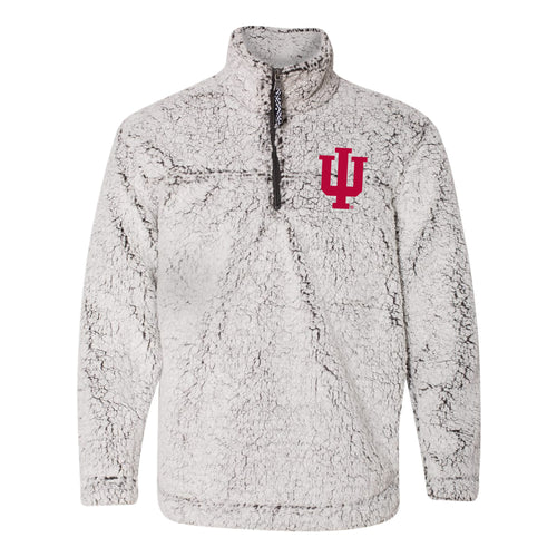 Indiana University Hoosiers Trident Sherpa Quarter Zip - Frosty Grey