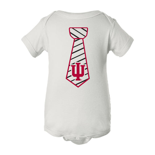 Indiana University Hoosiers Necktie Infant Creeper - White