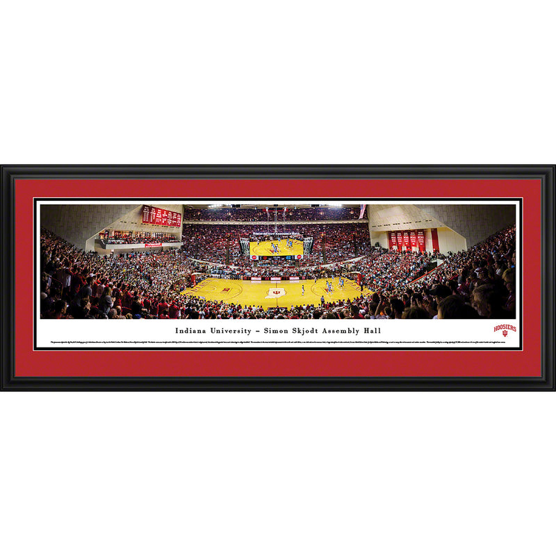 Indiana University Hoosiers Basketball Assembly Hall Panorama - Deluxe Frame
