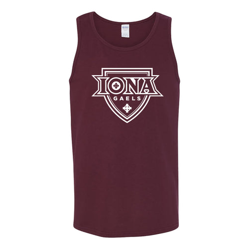 Iona College Gaels Primary Logo Heavy Cotton Tank Top - Maroon