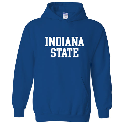 Indiana State University Sycamores Basic Block Hoodie - Royal