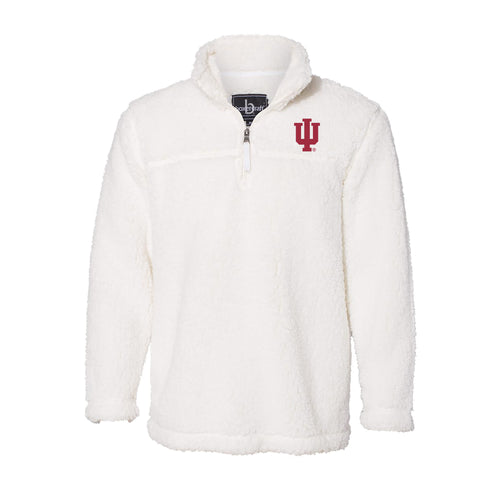 Indiana University Hoosiers Trident Sherpa Quarter Zip - Natural