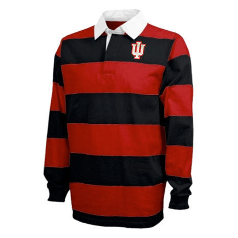 Indiana Striped Rugby Polo - Black/Red