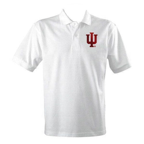 Indiana University Embroidered Performance Polo - White