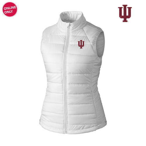 Indiana University Hoosiers Cutter & Buck Women's Post Alley Vest - White