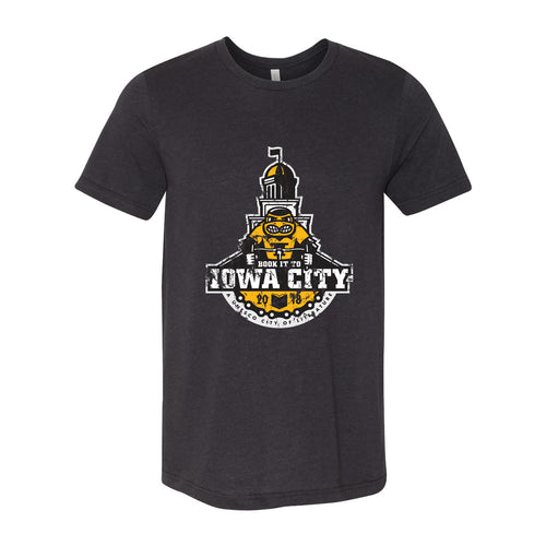 Iowa City Next Level Triblend Short Sleeve T Shirt - Black Heather Triblend