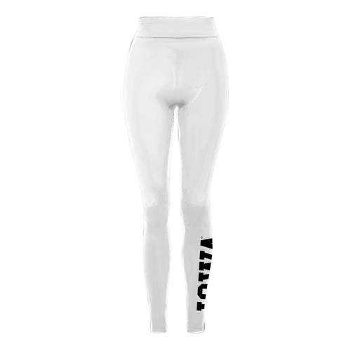 University of Iowa Hawkeyes Basic Block Spandex Leggings - White