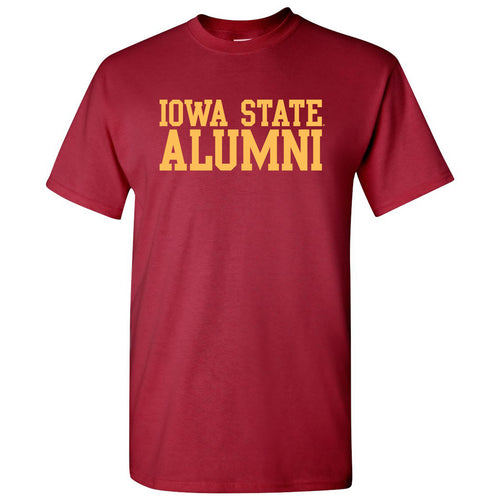 Iowa State University Cyclones Basic Block Alumni Short Sleeve T Shirt - Cardinal