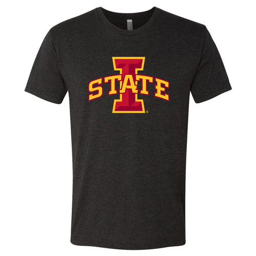 Iowa State University Cyclones Logo Next Level Short Sleeve T Shirt - Vintage Black
