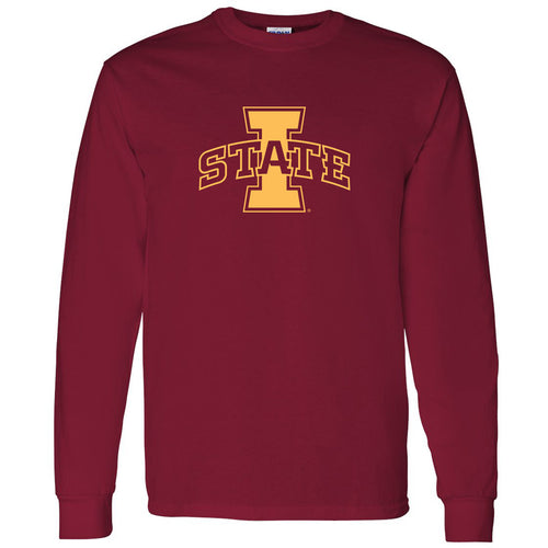 Iowa State University Cyclones Logo Long Sleeve T Shirt - Cardinal