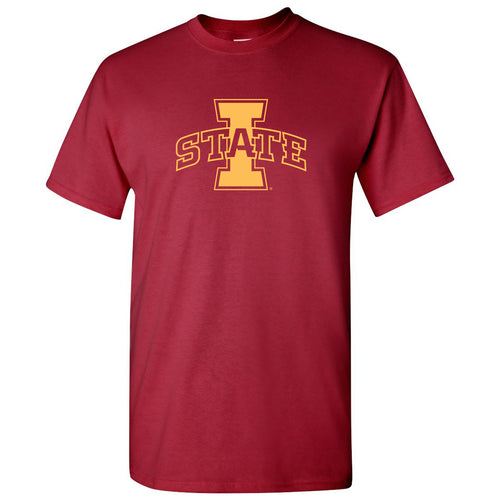 Iowa State University Cyclones Logo Short Sleeve T Shirt - Cardinal