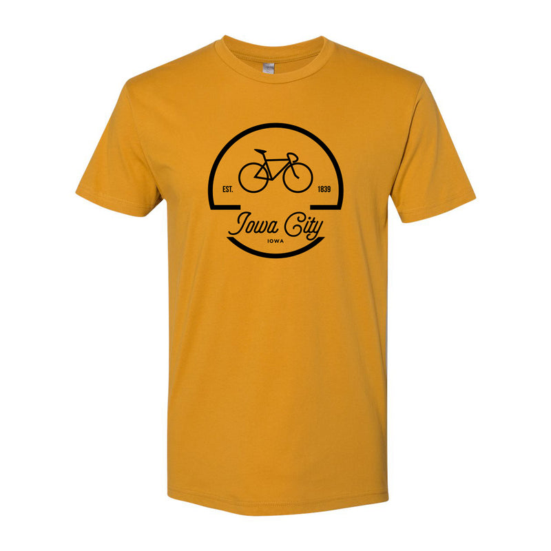 Iowa City Bike Logo Next Level Premium Short Sleeve T Shirt - Antique Gold