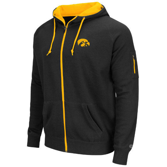 Iowa Cold Snap Full Zip Hoodie - Black