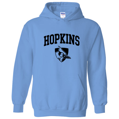 Johns Hopkins University Blue Jays Arch Logo Hoodie - Carolina Blue