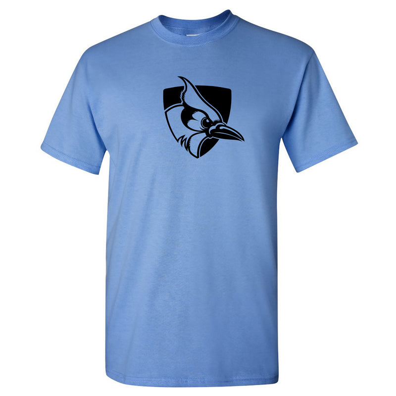 Johns Hopkins University Blue Jays Primary Logo Short Sleeve T Shirt - Carolina Blue