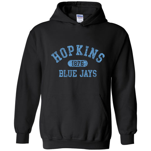 Johns Hopkins University Blue Jays Athletic Arch Hoodie - Black