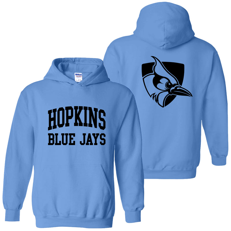 Johns Hopkins University Blue Jays Front Back Print Hoodie - Carolina Blue
