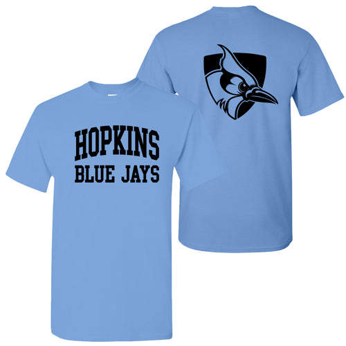 Johns Hopkins University Blue Jays Front Back Print Short Sleeve T Shirt - Carolina Blue