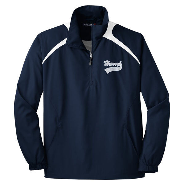 Harrys 1/2 Zip Wind Shirt - True Navy