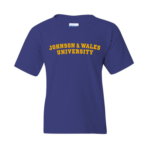 Johnson & Wales University Wildcats Basic Block Youth Short Sleeve T Shirt - Cobalt