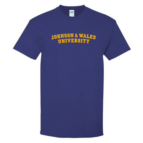 Johnson & Wales University Wildcats Basic Block Short Sleeve T Shirt - Cobalt