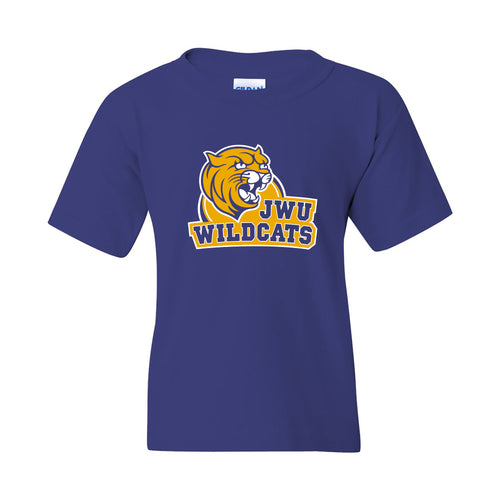 Johnson & Wales University Wildcats Arch Logo Youth Short Sleeve T Shirt - Cobalt