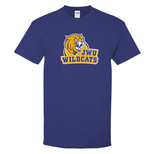 Johnson & Wales University Wildcats Arch Logo Short Sleeve T Shirt - Cobalt
