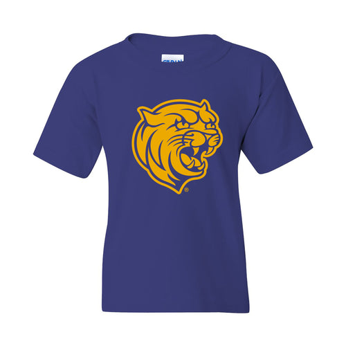 Johnson & Wales University Wildcats Primary Logo Youth Short Sleeve T Shirt - Cobalt
