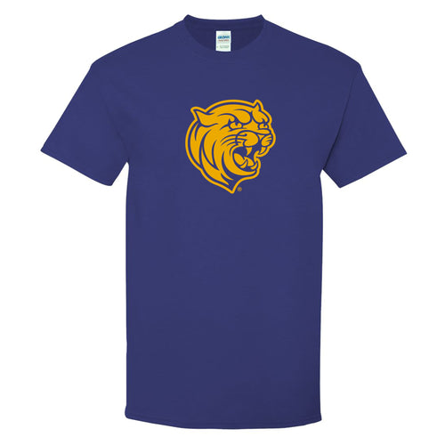 Johnson & Wales University Wildcats Primary Logo Short Sleeve T Shirt - Cobalt