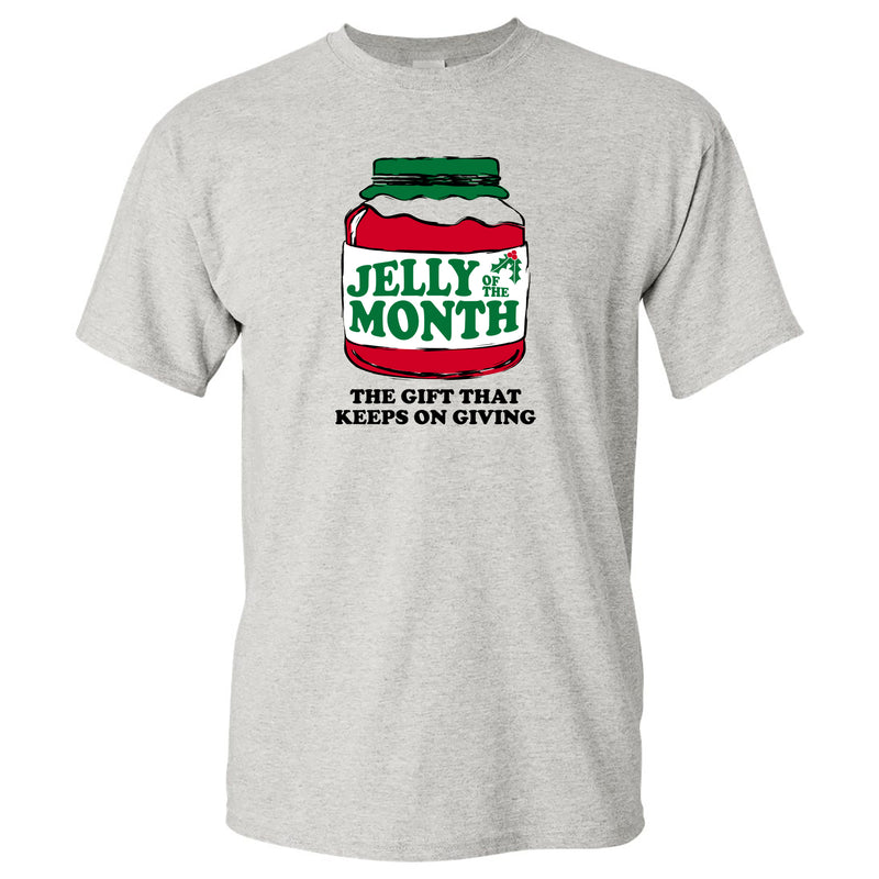 Jelly of the Month - Funny Christmas Vacation Graphic T Shirt - Grey