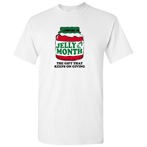 Jelly of the Month - Funny Christmas Vacation Graphic T Shirt - White