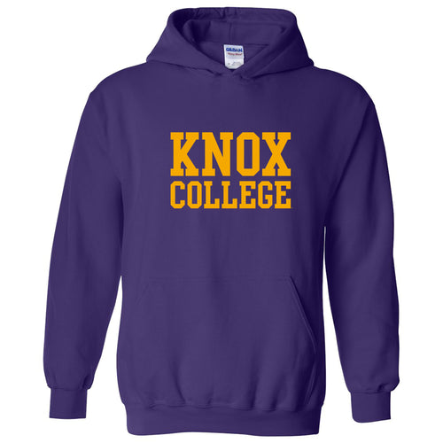 Knox College Prairie Fire Basic Block Hoodie - Purple