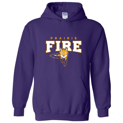 Knox College Prairie Fire Arch Logo Hoodie - Purple