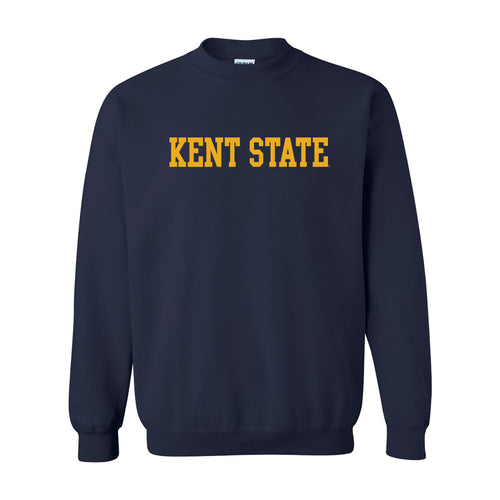 Kent State University Golden Flashes Basic Block Crewneck Sweatshirt - Navy