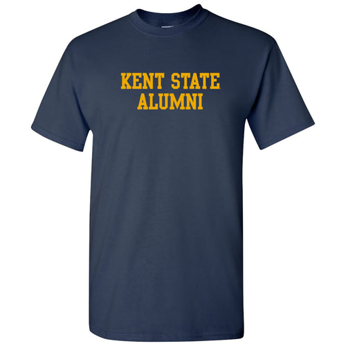 Kent State University Golden Flashes Basic Block Alumni Cotton Short Sleeve T Shirt - Navy