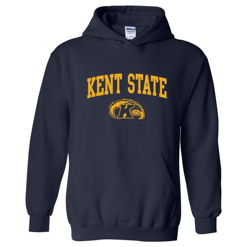 Kent State University Golden Flashes Arch Logo Heavy Blend Hoodie - Navy