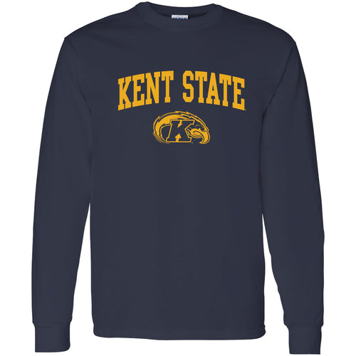 Kent State University Golden Flashes Arch Logo Long Sleeve T-Shirt - Navy
