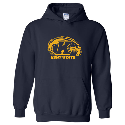 Kent State University Golden Flashes Primary Logo Haavy Blend Hoodie - Navy