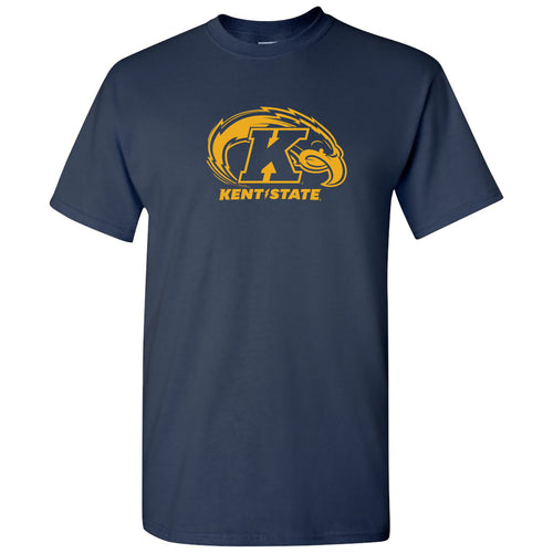 Kent State University Golden Flashes Primary Logo Short Sleeve T Shirt - Navy